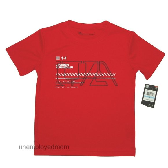 Under Armour T Shirt Mens Top Athletic Sports Active Tee Little UA Logo